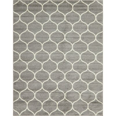 Easter Compton Trellis Light Gray Area Rug Rug Size: Rectangle 8 x 10