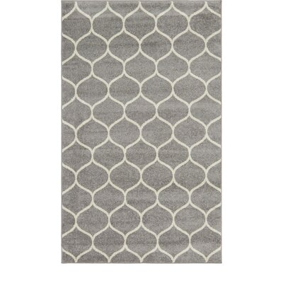 Easter Compton Trellis Light Gray Area Rug Rug Size: Rectangle 5 x 8