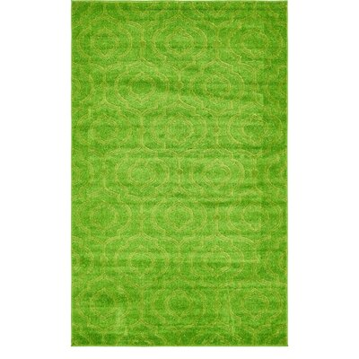 Mcreynolds Trellis Green Area Rug Rug Size: Rectangle 5 x 8