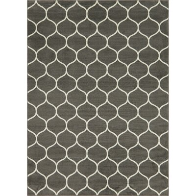 Easter Compton Trellis Dark Gray Area Rug Rug Size: Rectangle 8 x 10