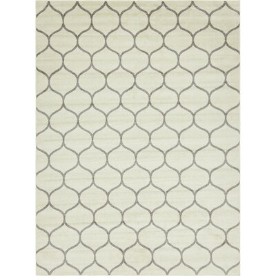 Easter Compton Trellis Ivory Area Rug Rug Size: Rectangle 9 x 12