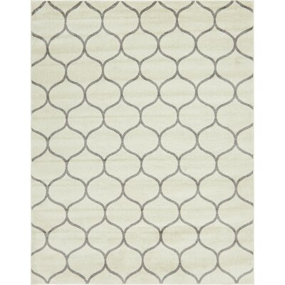 Easter Compton Trellis Ivory Area Rug Rug Size: Rectangle 8 x 10