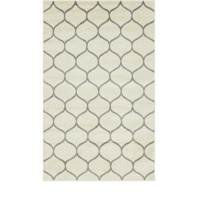 Easter Compton Trellis Ivory Area Rug Rug Size: Rectangle 5 x 8