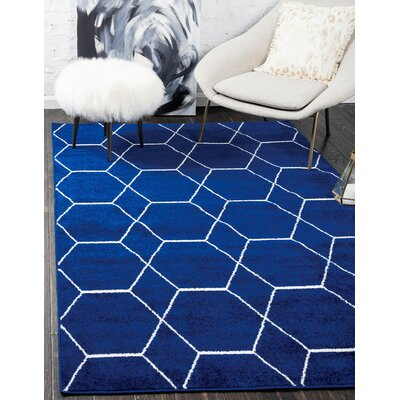 Eiler Trellis Blue Area Rug Rug Size: Rectangle 5 x 8