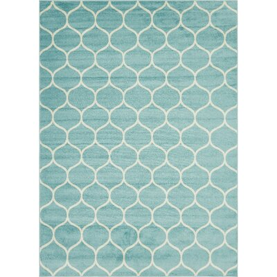 Easter Compton Trellis Light Blue Area Rug Rug Size: Rectangle 8 x 10