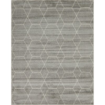 Eiler Trellis Gray Area Rug Rug Size: Rectangle 8 x 10