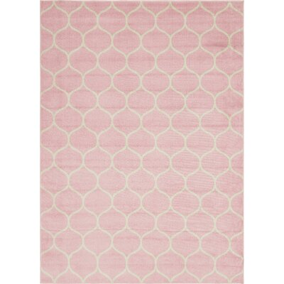 Easter Compton Trellis Pink Area Rug Rug Size: Rectangle 5 x 8