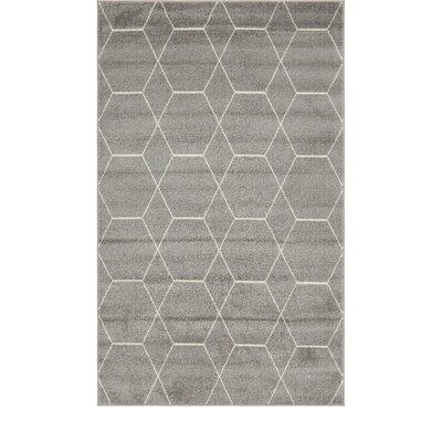 Eiler Trellis Gray Area Rug Rug Size: Rectangle 5 x 8