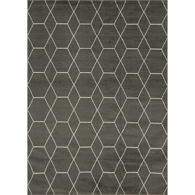 Eiler Trellis Gray Area Rug Rug Size: Rectangle 9 x 12