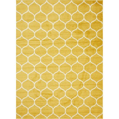 Easter Compton Trellis Yellow Area Rug Rug Size: Rectangle 9 x 12