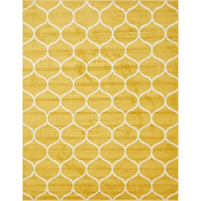 Easter Compton Trellis Yellow Area Rug Rug Size: Rectangle 8 x 10