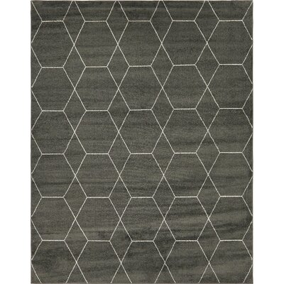 Eiler Trellis Gray Area Rug Rug Size: Rectangle 8' x 10'