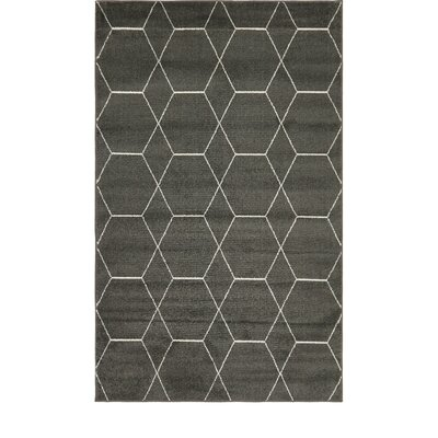 Eiler Trellis Gray Area Rug Rug Size: Rectangle 5 x 8