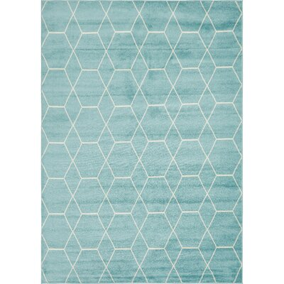 Eiler Trellis Blue Area Rug Rug Size: Rectangle 8 x 10
