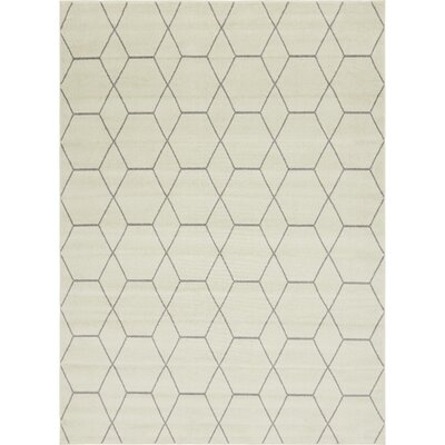Eiler Trellis Ivory Area Rug Rug Size: Rectangle 9 x 12