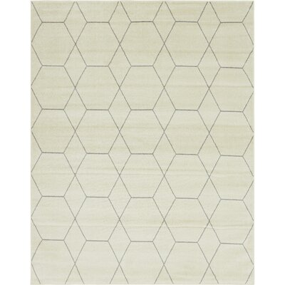 Eiler Trellis Ivory Area Rug Rug Size: Rectangle 8 x 10