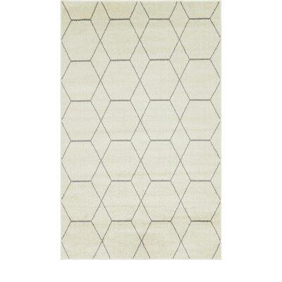 Eiler Trellis Ivory Area Rug Rug Size: Rectangle 5 x 8