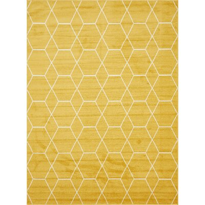 Eiler Yellow Area Rug Rug Size: Rectangle 5 x 8