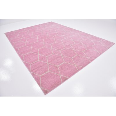 Eiler Pink Area Rug Rug Size: Rectangle 5 x 8