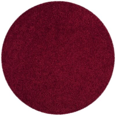 Starr Hill Red Area Rug Rug Size: Round 7