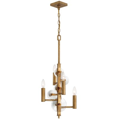 Casey 4-Light Candle-Style Chandelier Finish: Antique Gold Leaf