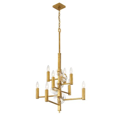 Casey 8-Light Candle-Style Chandelier Finish: Antique Gold Leaf