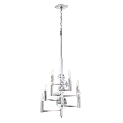Casey 8-Light Candle-Style Chandelier Finish: Chrome