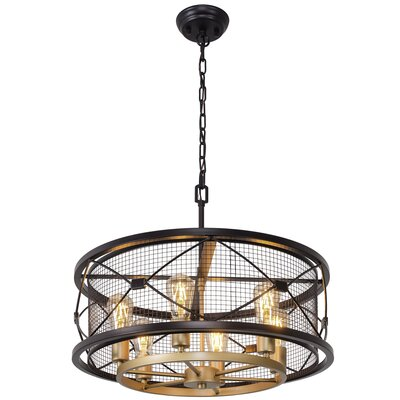 Crase 6-Light Drum Pendant