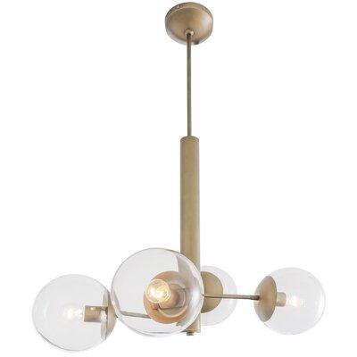 Cissell Mid Century 4-Light Sputnik Chandelier