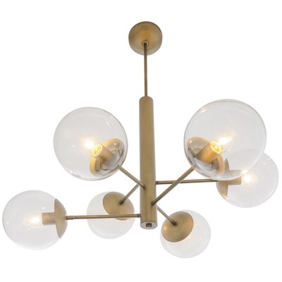 Citium Mid Century 6-Light Sputnik Chandelier