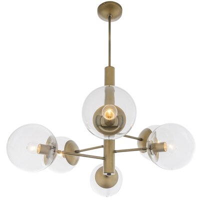 Cissell Mid Century 5-Light Sputnik Chandelier