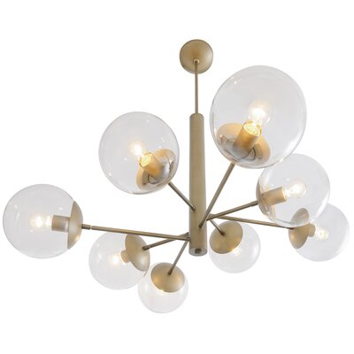 Cissell Mid Century 8-Light Sputnik Chandelier