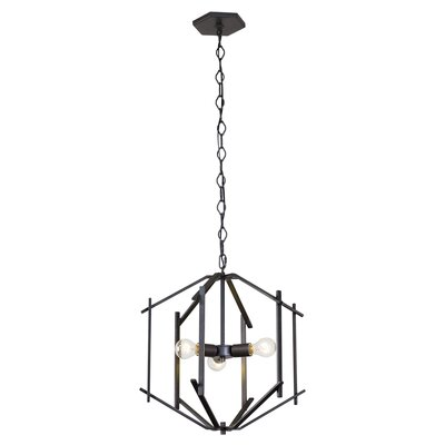 Cranford 3-Light Geometric Pendant