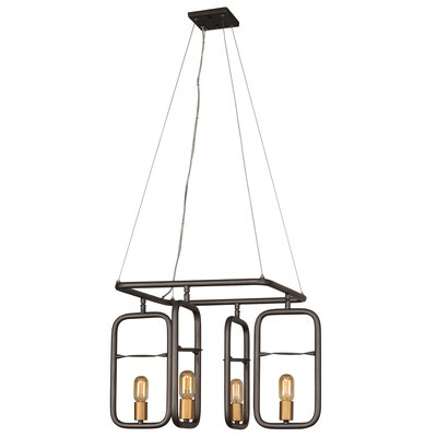 Crantor 4-Light Geometric Pendant