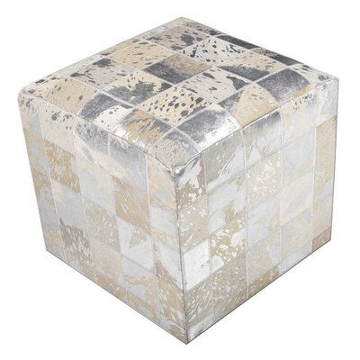 Bellwood Cube Ottoman Upholstery: White