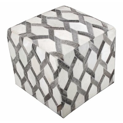 Chesapeake Cube Ottoman Upholstery: Gray Hexagon