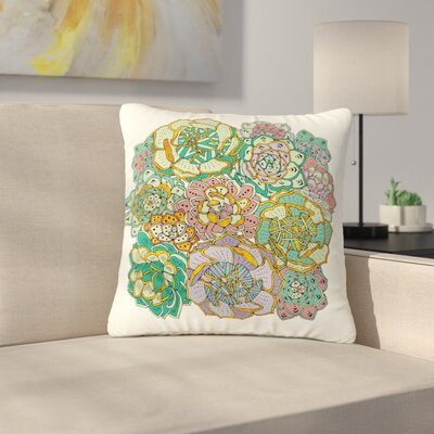 Pom Graphic Design Succulent Love Outdoor Throw Pillow Size: 18 H x 18 W x 5 D