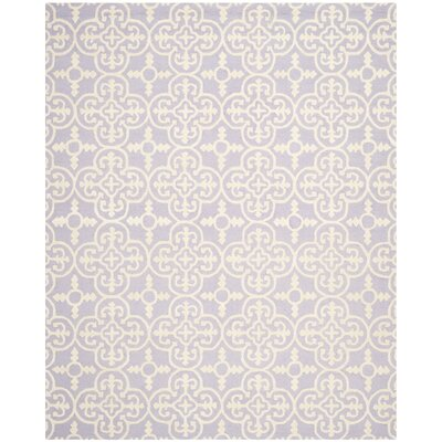 Marlen Lavender / Ivory Area Rug Rug Size: Rectangle 8 x 10