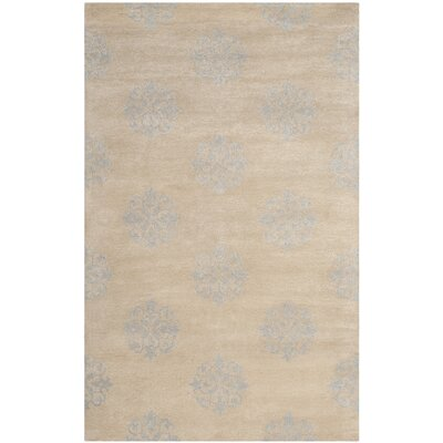 Soho Hand-Tufted Beige Area Rug Rug Size: Rectangle 5 x 8