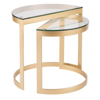 Kewstoke 2 Piece Nesting Tables Color: Clear Glass
