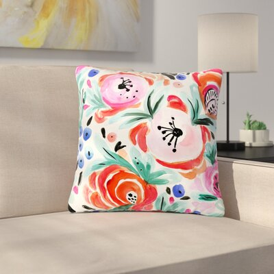 Crystal Walen Boho Morning Glory Outdoor Throw Pillow Size: 16 H x 16 W x 5 D