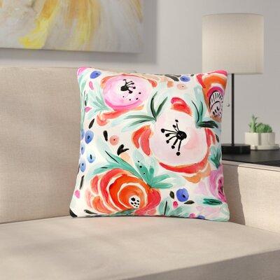 Crystal Walen Boho Morning Glory Outdoor Throw Pillow Size: 18 H x 18 W x 5 D