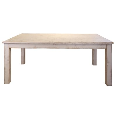 Pueblo Wooden Dining Table Base Color: White, Top Color: White