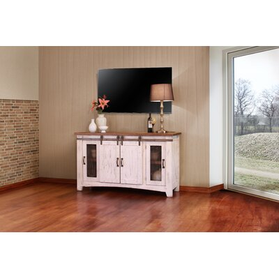 Pueblo TV Stand Color: White, Width of TV Stand: 60