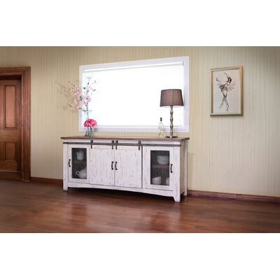 Pueblo TV Stand Color: White, Width of TV Stand: 80