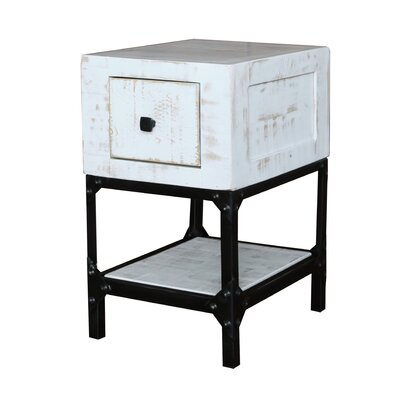 Zeno 1 Drawer End Table