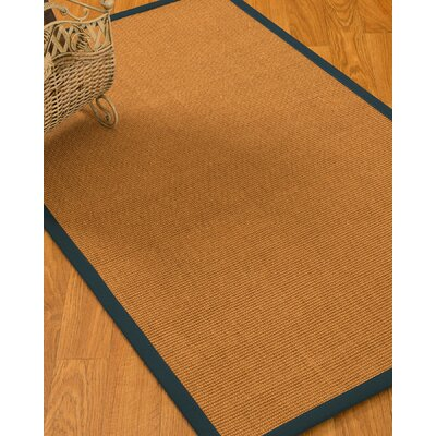 Kelston Border Hand-Woven Brown/Marine Area Rug Rug Size: Rectangle 4 x 6
