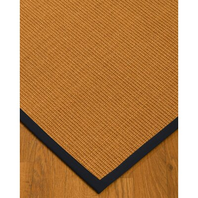 Keltner Border Hand-Woven Brown/Black Area Rug Rug Size: Rectangle 4 x 6