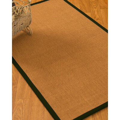 Kelton Border Hand-Woven Brown/Black Area Rug Rug Size: Rectangle 4 x 6
