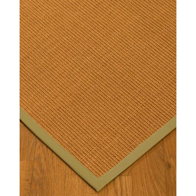Kelty Border Hand-Woven Brown/Olive Area Rug Rug Size: Rectangle 9 x 12